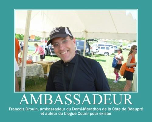 ambassadeur du Demi-marathon de la Côte de Beaupré, Francois Drouin